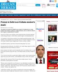 Protest in Delhi over Kolkata student death: Deccan Herald